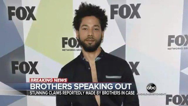 "BROTHERS SPEAK OUT: Two brothers are now telling Chicago police that ""Empire"" actor Jussie Smollett paid them to orchestrate a homophobic and racist attack. @EvaPilgrim reports. https://abcn.ws/2SWvevE"