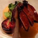 Image for the Tweet beginning: Aged duck breast with foie