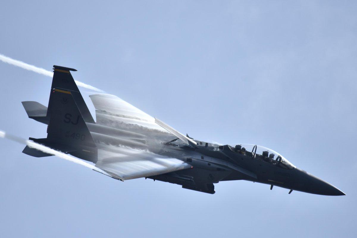 F-15E Strike Eagle! . . . #F15 #F15E #Eagle #StrikeEagle #F15Eagle #F15StrikeEagle #Aircraft #Jet #FighterJet #USAirForce #USAF #AirForce #Speed #Aviation #AviationLife #Pilot #PilotLife #MilitaryMachine