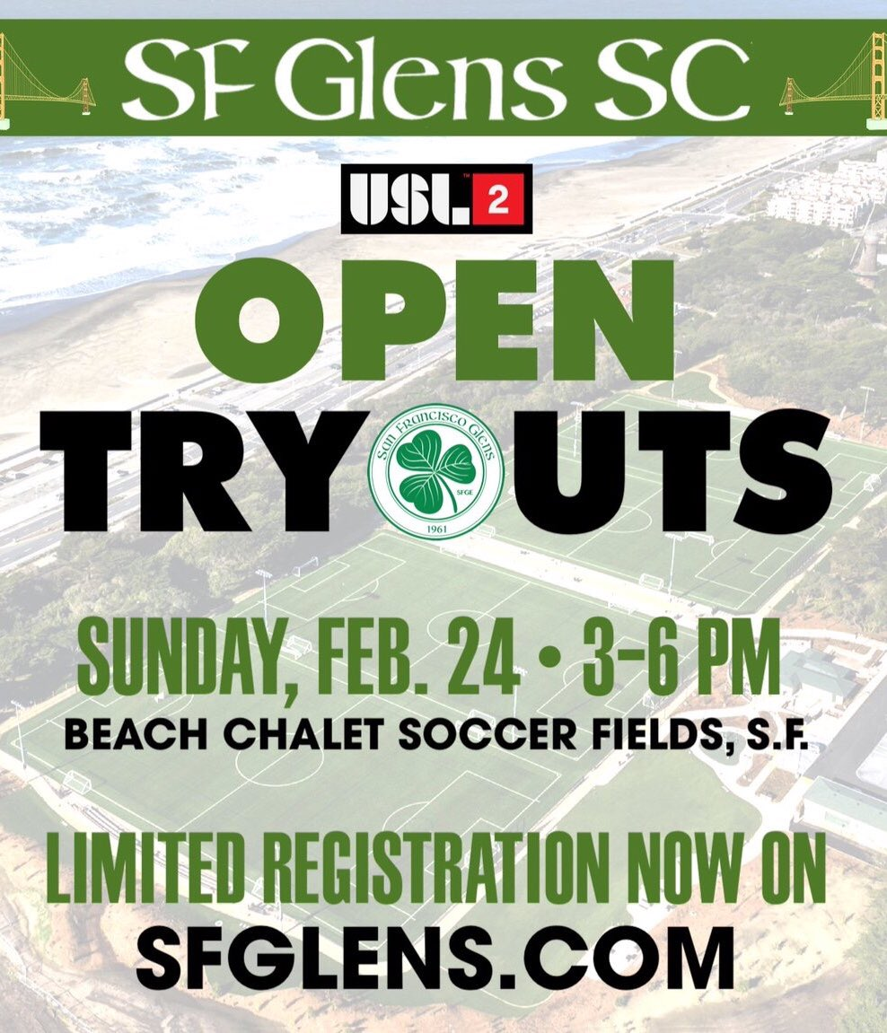 (speaking in my best Monster Truck rally voice)  SUNDAY, SUNDAY, SUNDAY!  Open tryouts to play for my new @USLPDL team, the , is g@sfglensscoing down.  So if you think you got what it takes and want to be coached by me and , sign@jav910 up at   Do ihttps://t.co/80g8jUDG2pt!