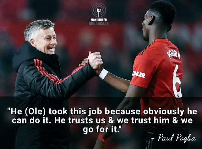 Paul Pogba: Ole trusts us and we trust him 👌🏼🇾🇪😈  #MUFC #OleAtTheWheel
