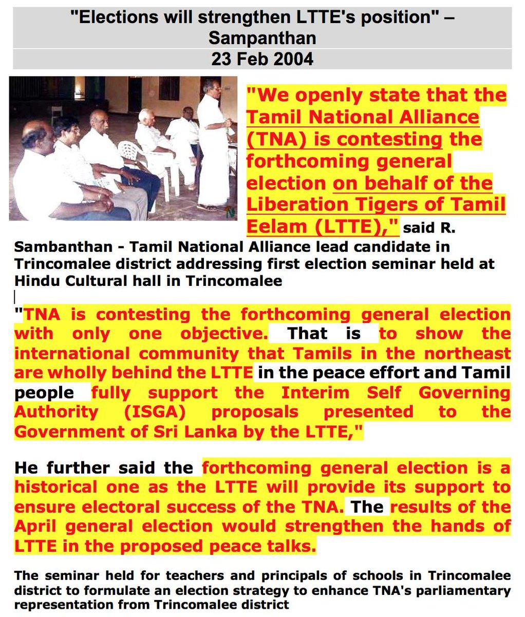 Proving LTTE-TNA links