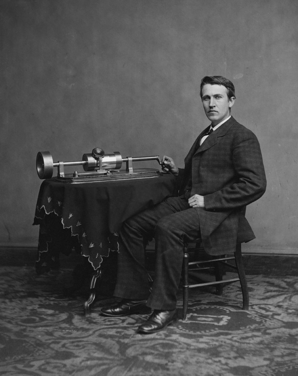 February 19, 1878 – Thomas Edison received a US patent (No. 200521) for the phonograph.  Edison created many inventions, but his favorite was the phonograph. While working on improvements to telegraph and telephone, Edison found a way to record sound on tinfoil-coated cylinders.