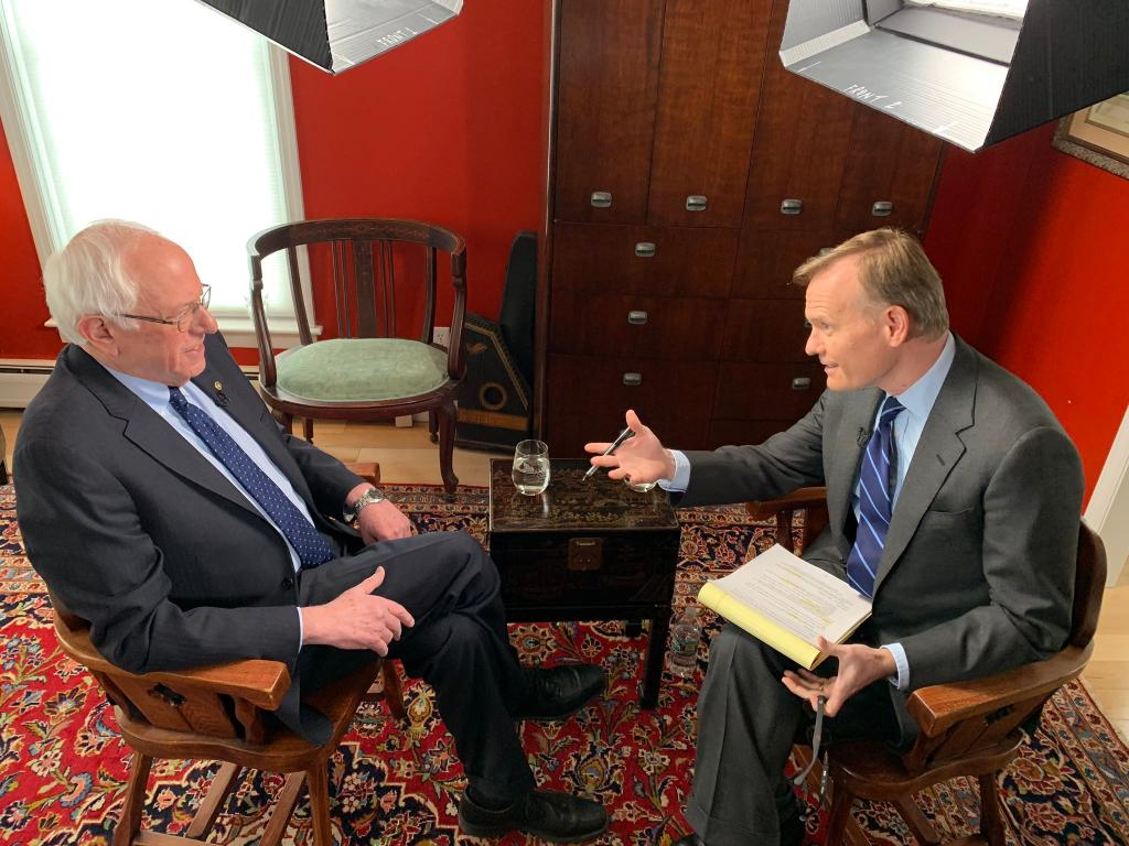 .@jdickerson sat down with Senator Bernie Sanders (I-VT) in a revealing interview, you'll see only on @CBSThisMorning Tuesday.