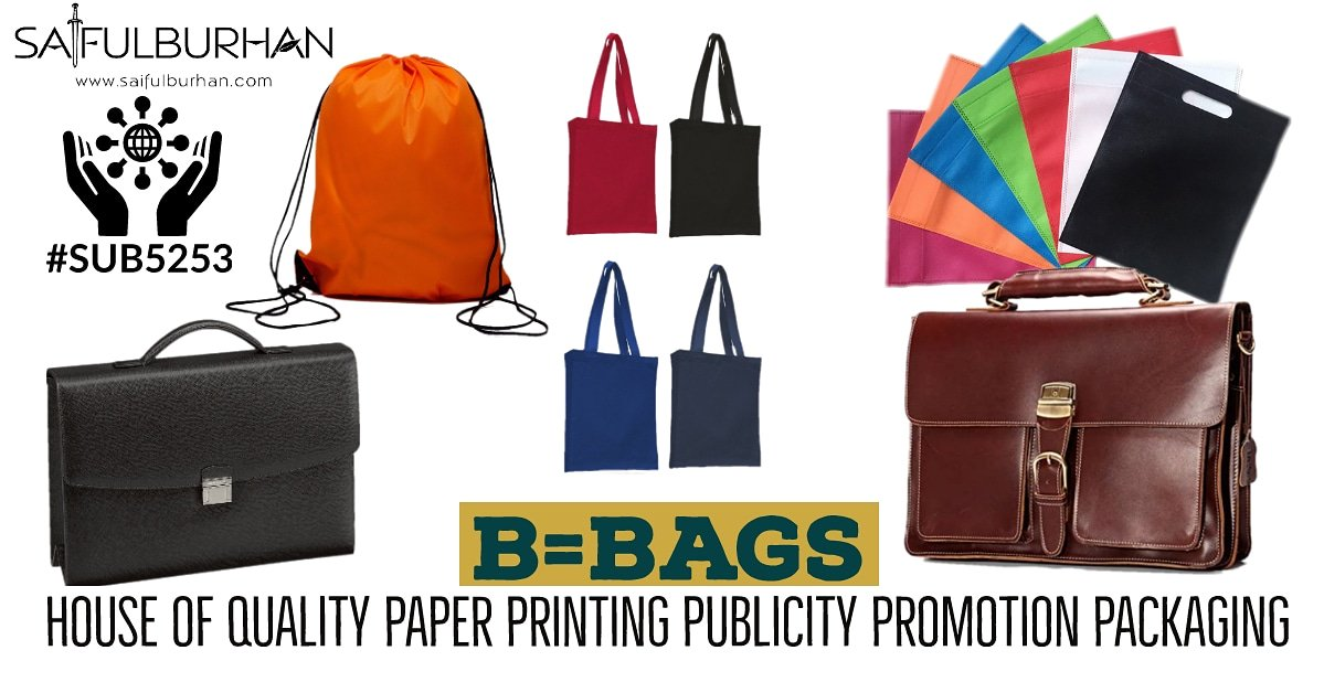 #SUB5253 = #Manufacturing & #customization of #different types of #bags