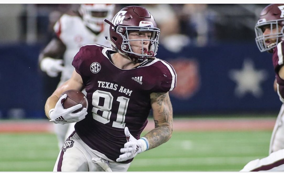 Former @KINGFISHERHIGH standout and @AggieFootball All-American TE @_Jstern joins us on the latest installment of the @VIBELANDSports podcast..Don't miss a moment of our show..simply subscribe thru Apple podcast or Spotify..This week's episode drops Wednesday