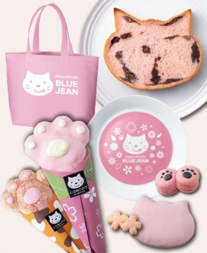 """""""ねこ型の食パン""""さくら風味の「sakura(あんこ)」大阪で限定発売、猫スイーツ入りキットも - https://t.co/S2c6w6ph98"""