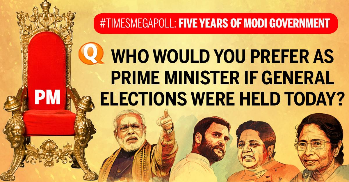 #TimesMegaPoll: Who would you prefer as PM in Lok Sabha polls??  Vote here 👉https://t.co/9hbKmYJqoI