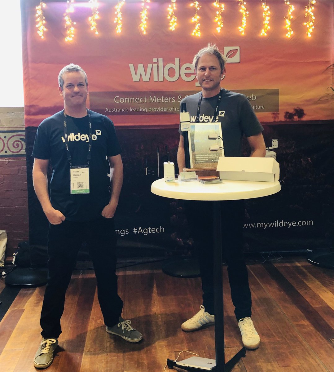 Wildeye use Internet of things (IoT) to deliver practical insights to farmers for yield improvements & management of water use. Visit the awesome team at their evokeAG stand to learn more. @mywildeye #evokeAG  #IoT