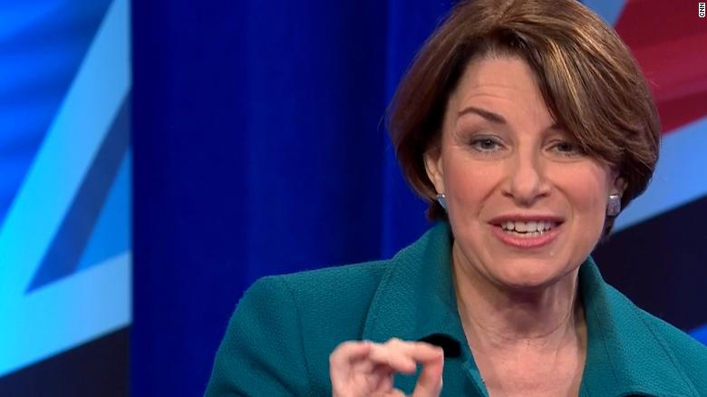 """Klobuchar says the Green New Deal is important to have, but """"there's going to be compromises"""" https://cnn.it/2DVjZKj #KlobucharTownHall"""