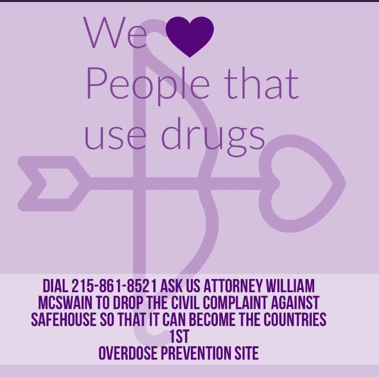 Support @SafehousePhilly!!! #harmreduction #Philadelphia #Opioidepidemic #harmreductionsaveslives 💜