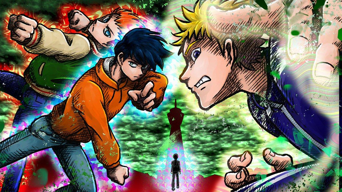 @mobpsycho_anime  #モブ_イラ所2 「応募規約に同意した。」   「バトル!」 アクションシーンが今からめちゃくちゃ楽しみです!