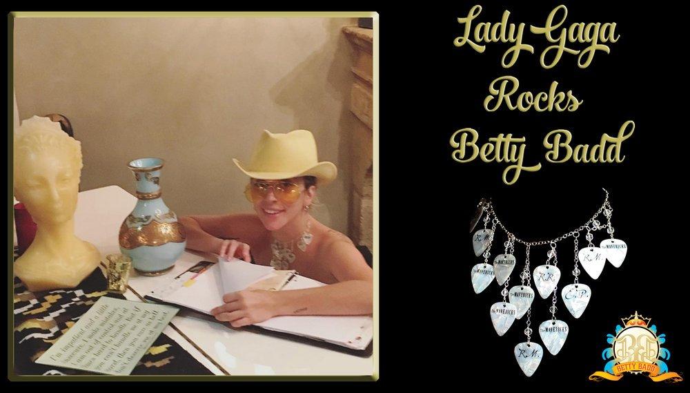 Lady GaGa wearing Betty Badd