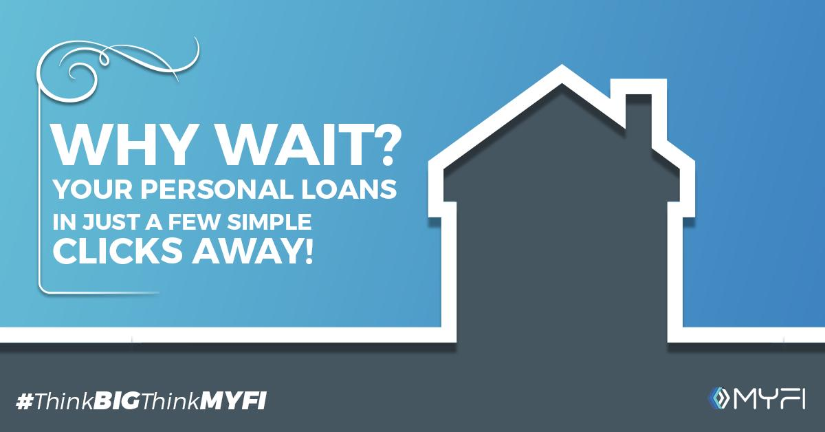 Getting a personal loan has never been simpler! MYFI help you acquire loans in 4 simple steps! Apply Now.  Apply for Personal Loans Now - https://buff.ly/2PqfTys  #MYFI #PersonalLoans #ThinkBigThinkMYFI #PaydayLoans #EmergencyLoans #Getloan #TakeLoan #Credit #CreditScore