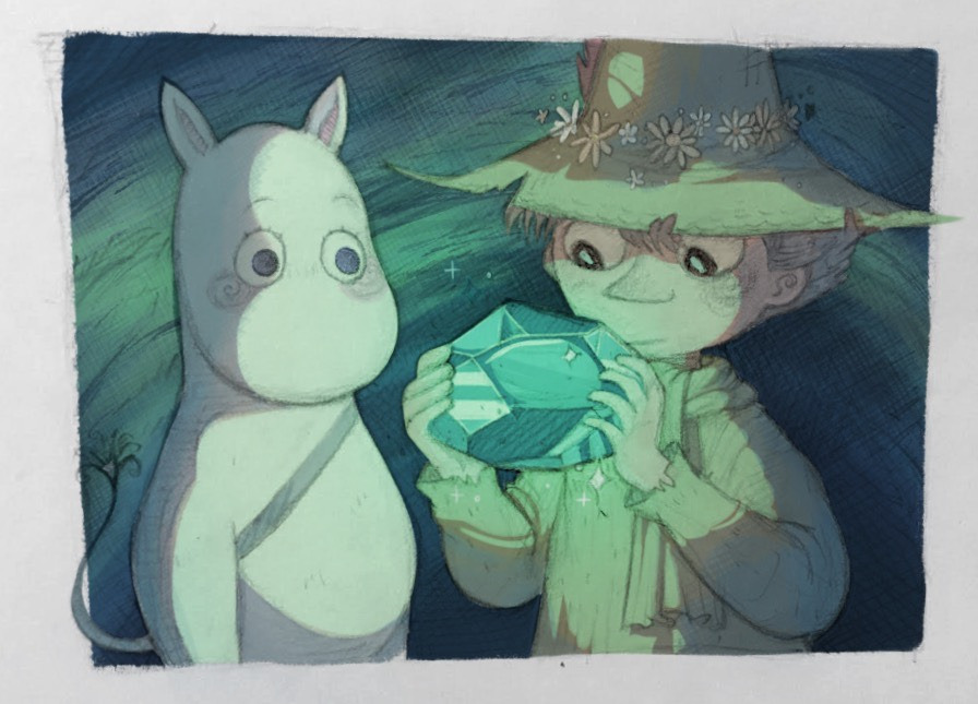 never posted this here so here's an old moomin screencap redraw I did back when I was first getting into the series (still not sure how to draw snufkin rip)
