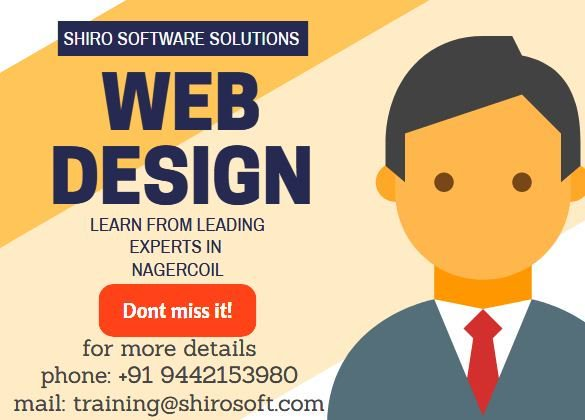 Training Shiro On Twitter Webdesign Your Technical Partner Towards Web Success Get Trained From The Best Training Institute In Nagercoil Courses Training Learning Course Classes Webdesign Nagercoil Kanyakumari College Student