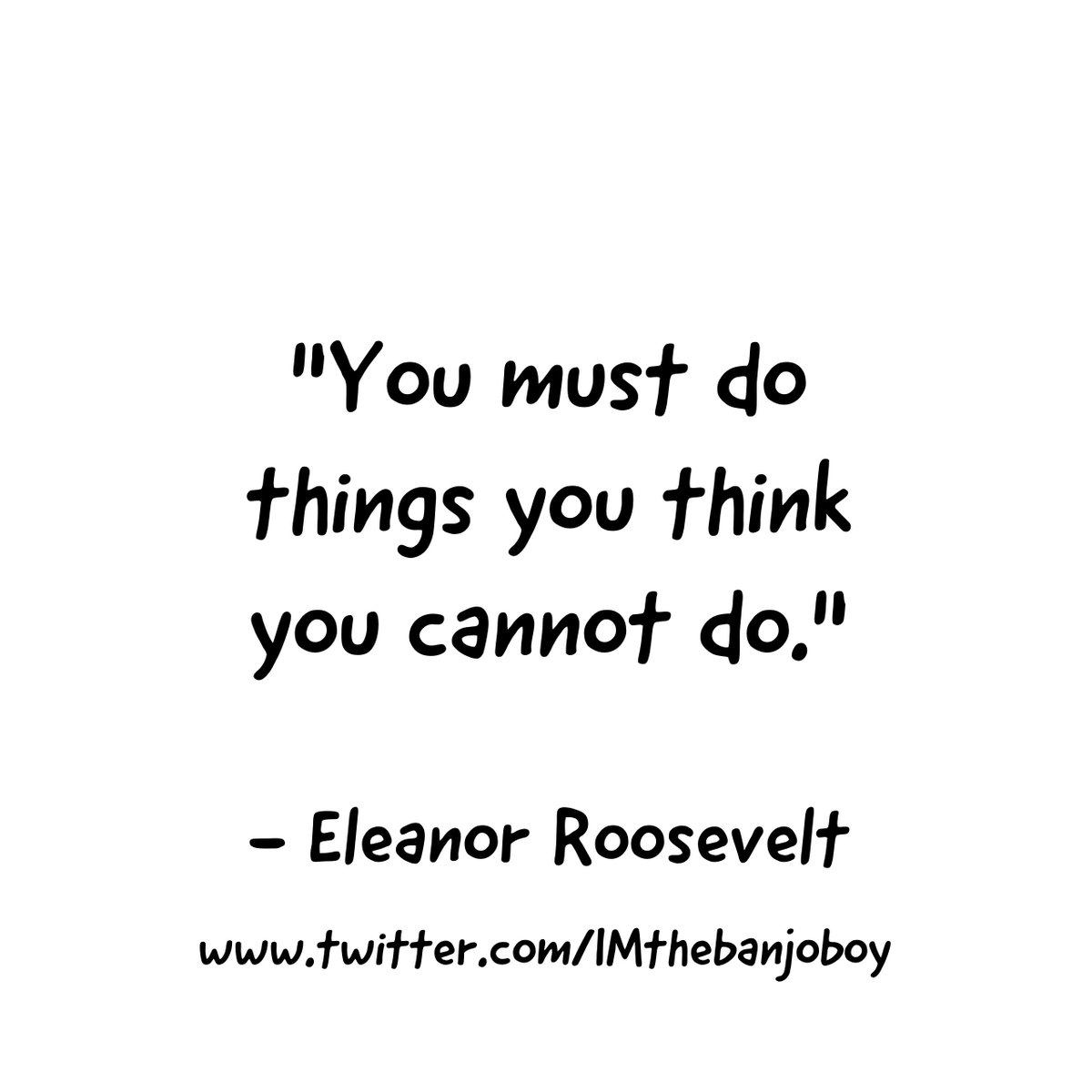 """""""You must do the thing you think you cannot do.""""  #EleanorRoosevelt  https://www.youtube.com/watch?v=iFX-O4wJTuw…  #Learning  #Thoughts #Beliefs  #MoreLearning  #Action  #Actions  #Activity #Courage   #JustDoIt  #DoItAnyway  #Progress  #Success #us  #Quotes  #MoreQuotes"""
