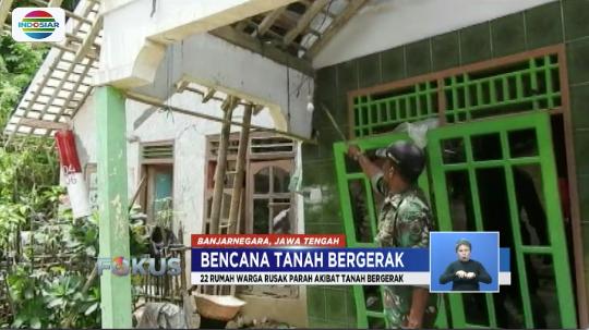 Sebanyak 70 persen wilayah di Kabupaten Banjarnegara dinyatakan zona merah rawan bencana alam dan tanah bergerak. #FokusIndosiar