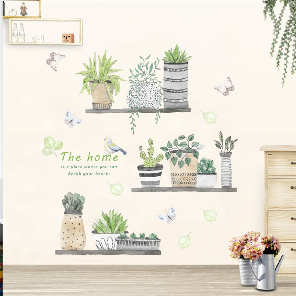 New Arrival Stickers for Home #Flower 9.75 USD check here for more details ---> https://www.stickersforhome.com/garden-plant-bonsai-flower-butterfly-wall-stickers-home-decor-living-room-kitchen-pvc-wall-decals-diy-mural-art-decoration/… FREE Shipping Worldwide #homedecor