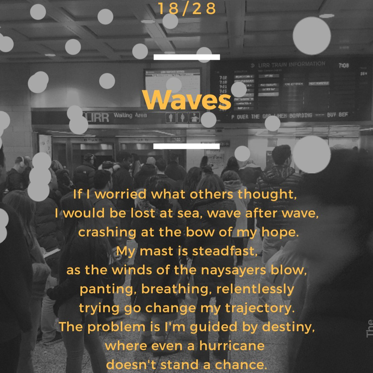 18/28  You can be the waves of the sea as you see me wave at you...  #destiny #upgrade #makeithappen #goals #dreamchaser  #MIH #poetry #POEMS #poet #poetrycommunity #poetrylovers #poetrylover #micropoetry #poetryislife
