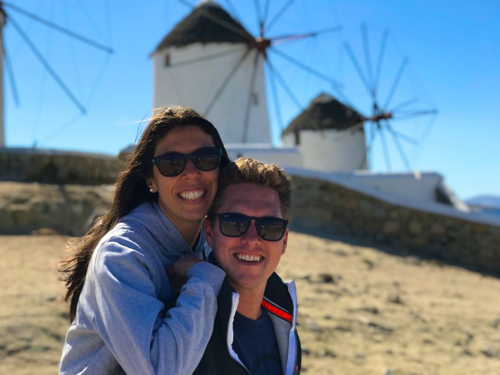 You go to Mykonos because it's a romantic place!👫😍💑😘💝 Then you discover you can rent quads there and cruise over the entire island. 🚀😜😂 Luckily Danielle is rather adventurous too and we only stopped for kebabs 🥙 on our way. 😊😍 #whatamatch   #tbt #greece #mykonos