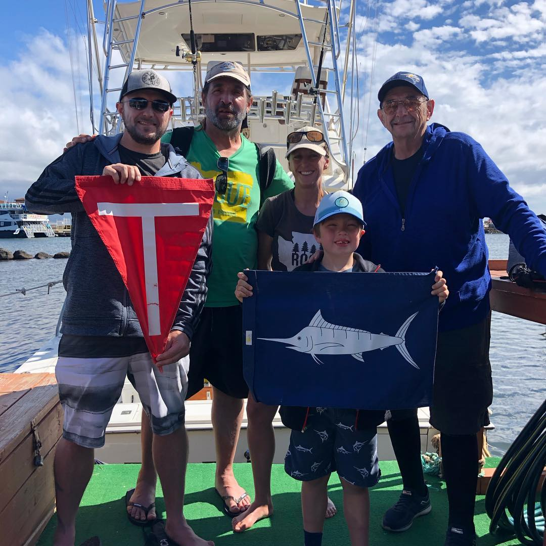 Maui, HI - Piper released a Blue Marlin.