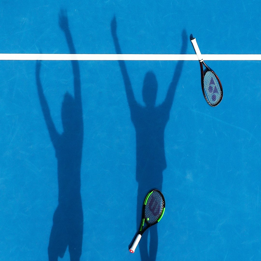 Double the challenge. Can you guess which #AusOpen doubles pairing this is? #ShadowPlay 👀