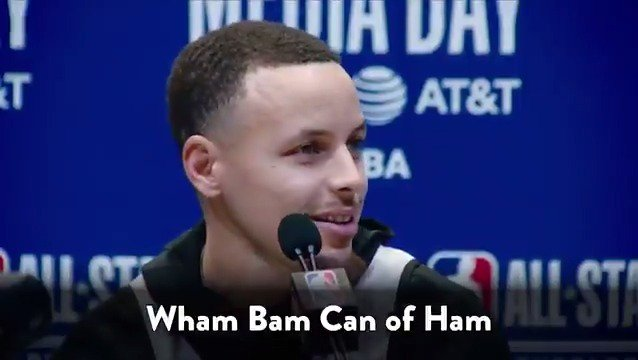 We had @StephenCurry30 sneak 3 weird phrases into his @NBAAllStar interviews