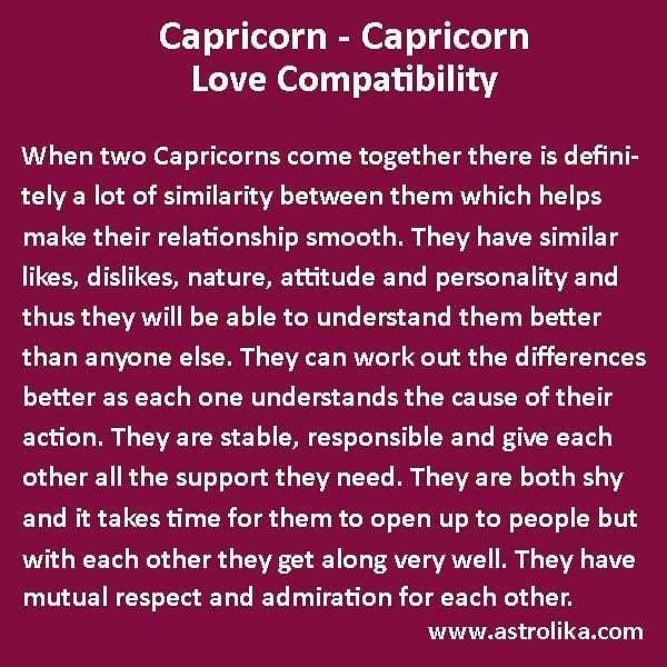 compatibility of zodiac signs capricorn and capricorn