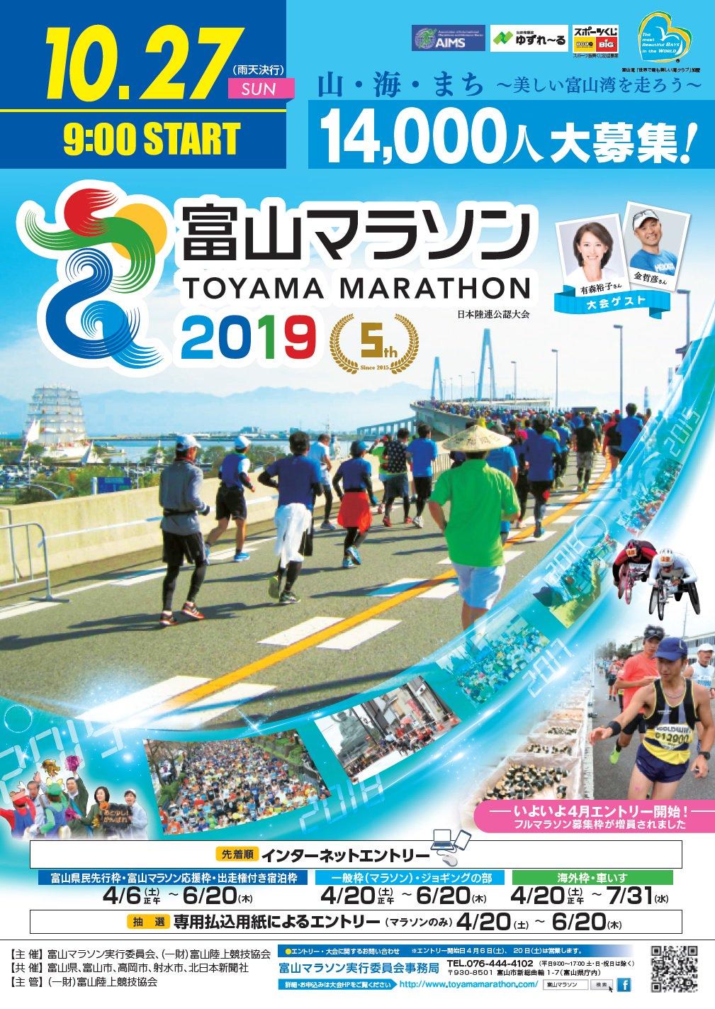 2019 結果 マラソン 富山