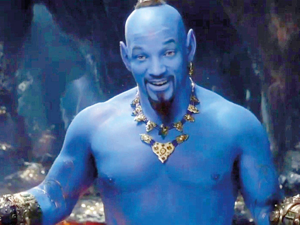 whoa..@iWillSmith thinks blue face is ok??? its 2019 brah get a grip  #BlueFace #Aladdin2019 #Aladdin #WillSmith #WillSmithGenie <br>http://pic.twitter.com/1ROHc5pgMI