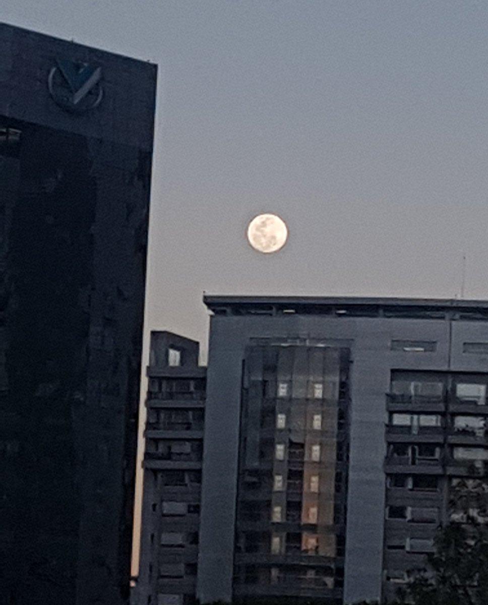 Disfrutando una hermosa luna llena❤