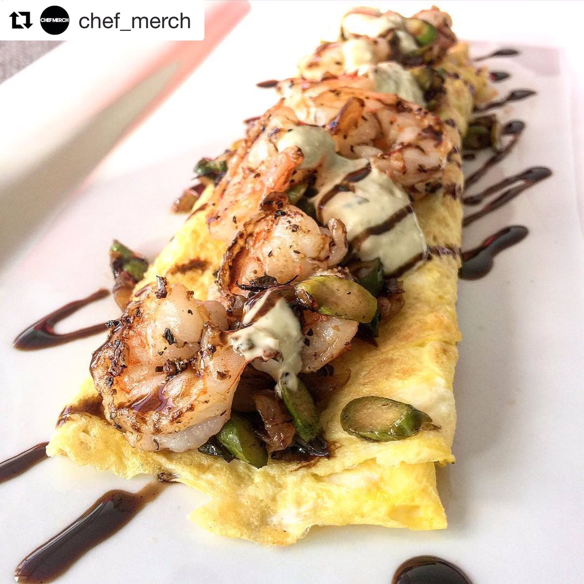 Upgrade your omelette 😍 Who 📸: @chef_merch What: Tuscan shrimp omelette  #WhereGhanaEats : 📍#Canada