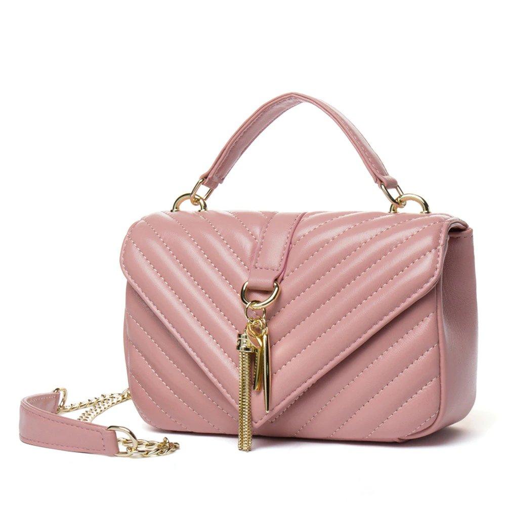 #denim #streetstyle Genuine Sheepskin Women's Messenger Tassel Bag
