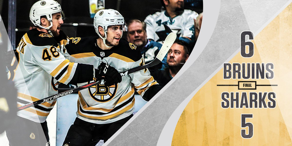 Six straight wins for the @NHLBruins!
