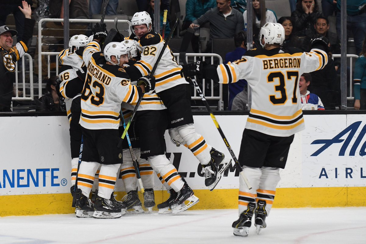 That's six straight for the B's!  #NHLBruins