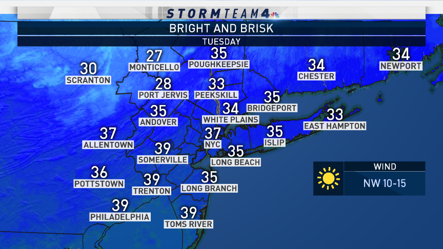 Quiet & cold with plenty of sunshine today, but another winter storm is on the way... Tune in, or head to https://t.co/qm86foktT0 to find out the latest details & what to expect.  #NBC4NY