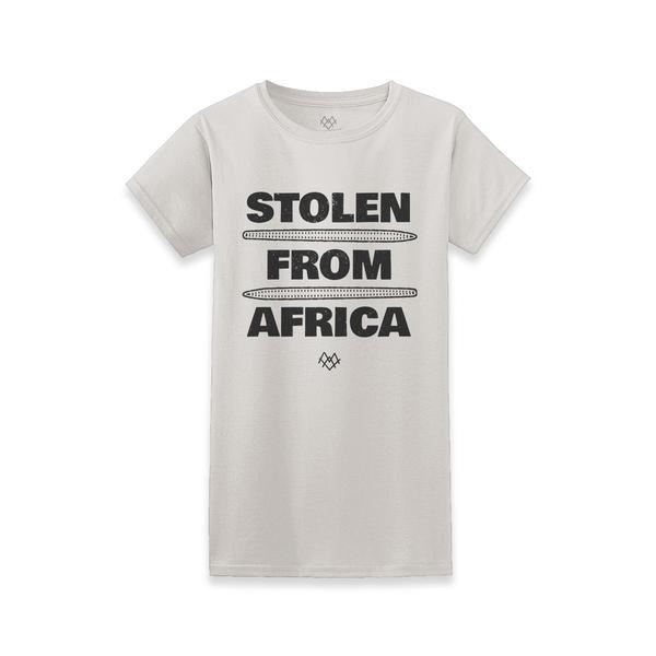 Women's Stolen From Africa Crew Neck - $28.00   #blacktwitter #BlackOwnedStores @calibakers http://blacktradelines.com/store/38/item/319/Women-s-Stolen-From-Africa-Crew-Neck…