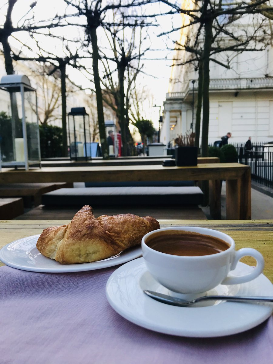 Good morning London - another great start to the day with a freshly baked vegan apricot croissant and a freshly made espresso - Cafe Forty One open for breakfast 7.00am to 11am with free Wi-Fi - you're welcome #veganbreakfast #veganrestaurant #bayswater #london