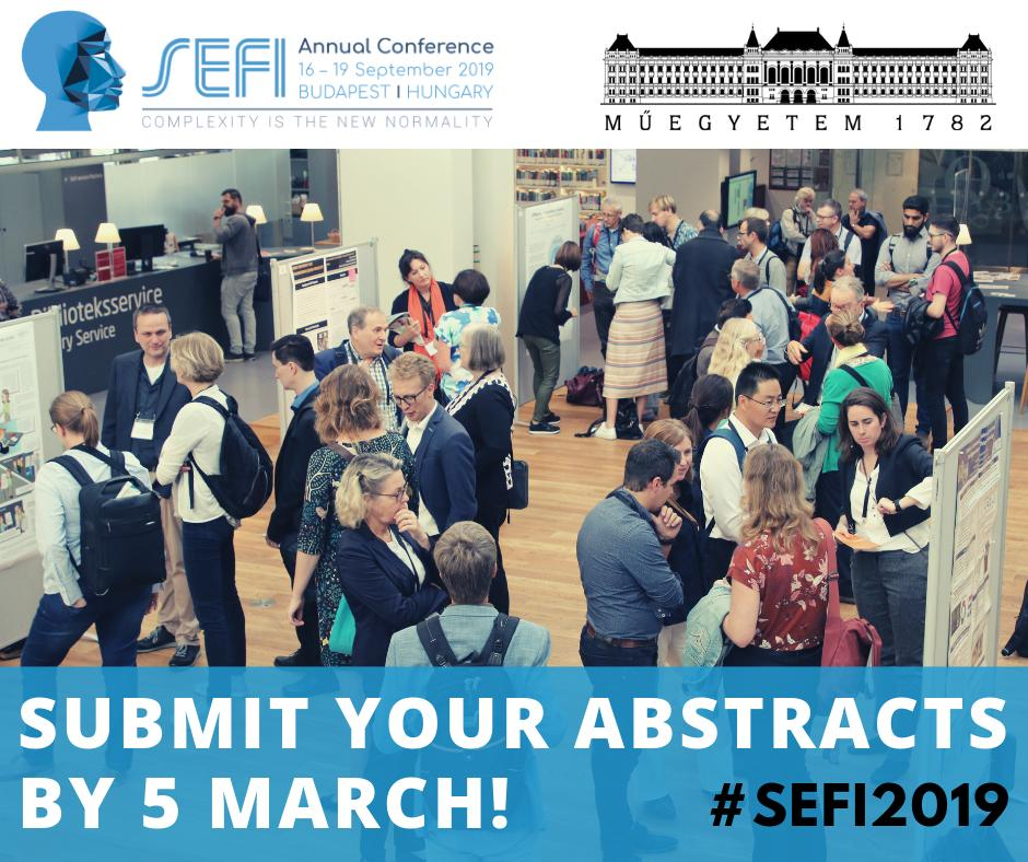 ‼️2 WEEKS TO GO‼️Submit your abstract and join us at #SEFI2019 Annual Conference in Budapest! Present your work in the field of #Engineering #Education at the biggest conference of this kind in Europe!  🗓 Deadline: 5 March 2019 📤 http://www.sefi2019.eu/node/5728