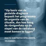 Britse wetenschappers schrijven in het blad Radiology dat de druk op radiologen verlicht kan worden door röntgenfoto's te analyseren met beeldherkenningssoftware.  #ai #artificialintelligence #kunstmatigeintelligentie #mkbnederland