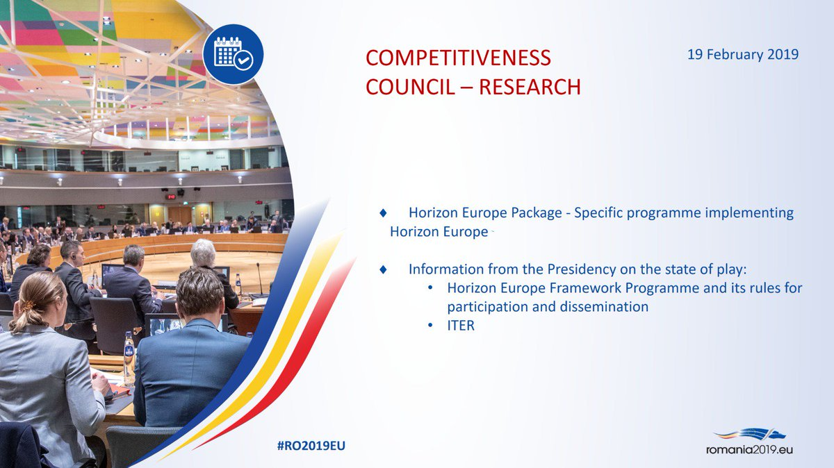 Today´s #COMPET #Research agenda: Specific Programme implementing #HorizonEurope. Ministers will exchange views on the main outstanding issues. #Estonia is represented by @ClydeKull. More: https://t.co/W2J8LgYqMt
