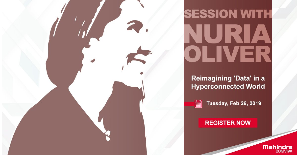 #MWC19 is just a week away! Please take a minute to register for the exclusive session with @nuriaoliver. Entry only for pre-registered participants. http://bit.ly/2tseaiw #GSMA #Data #Barcelona #Innovation
