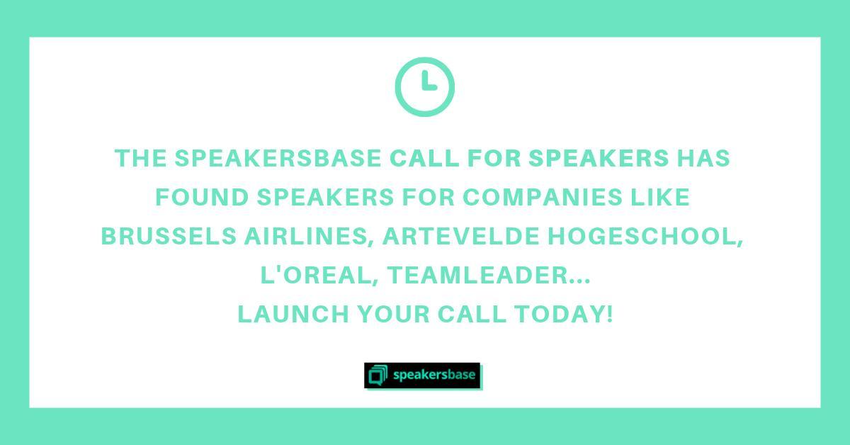 Speakersbase on Twitter: