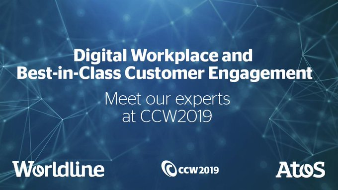 Join us at #CCW2019 Hall 2, Stand C3! Together with @WorldlineDE will show you...