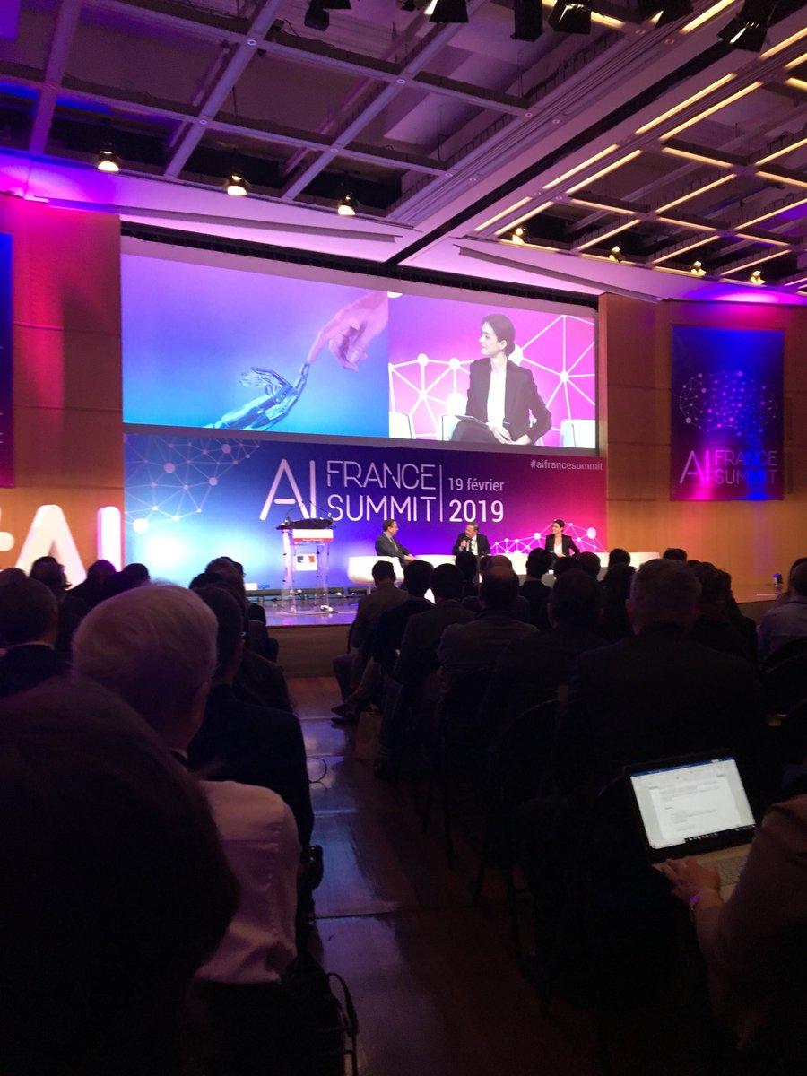 Journée #IntelligenceArtificielle au #AIFranceSummit organisé par le @Economie_Gouv 🤖 - 1ère étape vers le développement de l' #IA en France ! @ADVENTSC