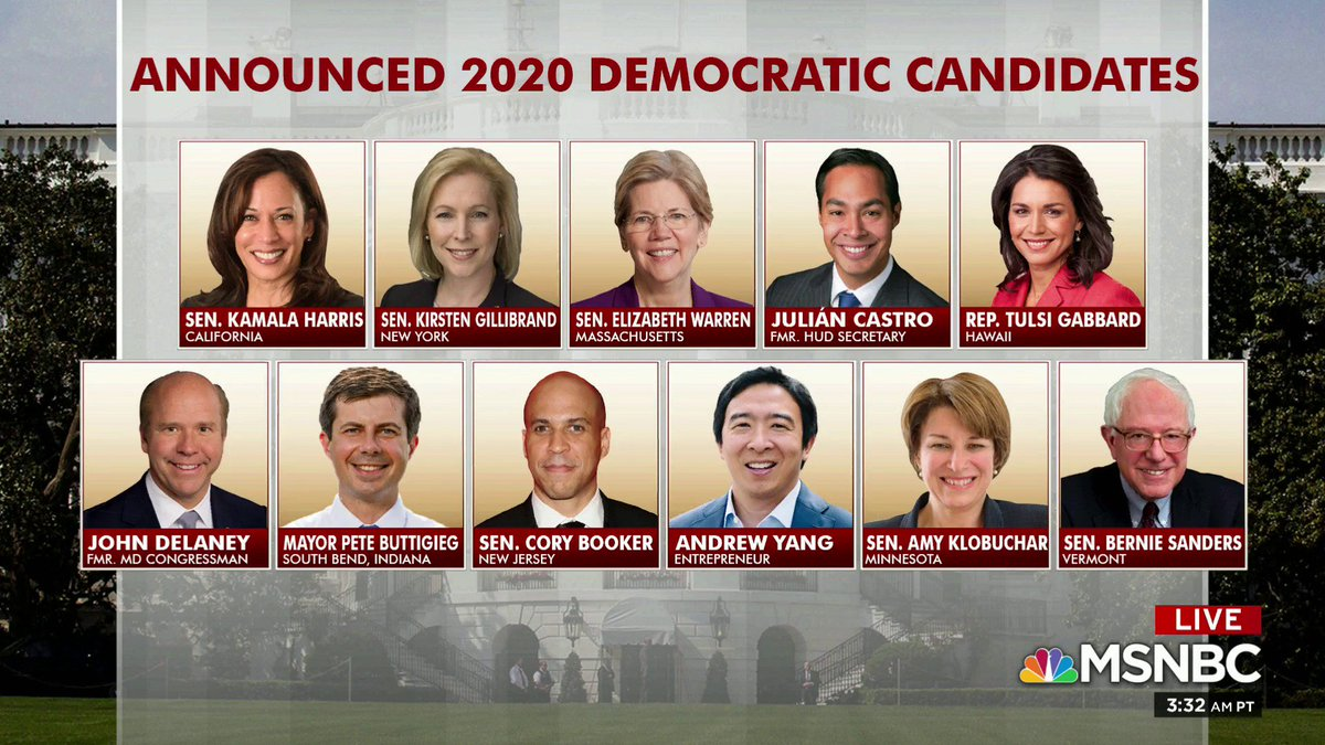 With @SenSanders announcement, here's how the 2020 Democratic field looks