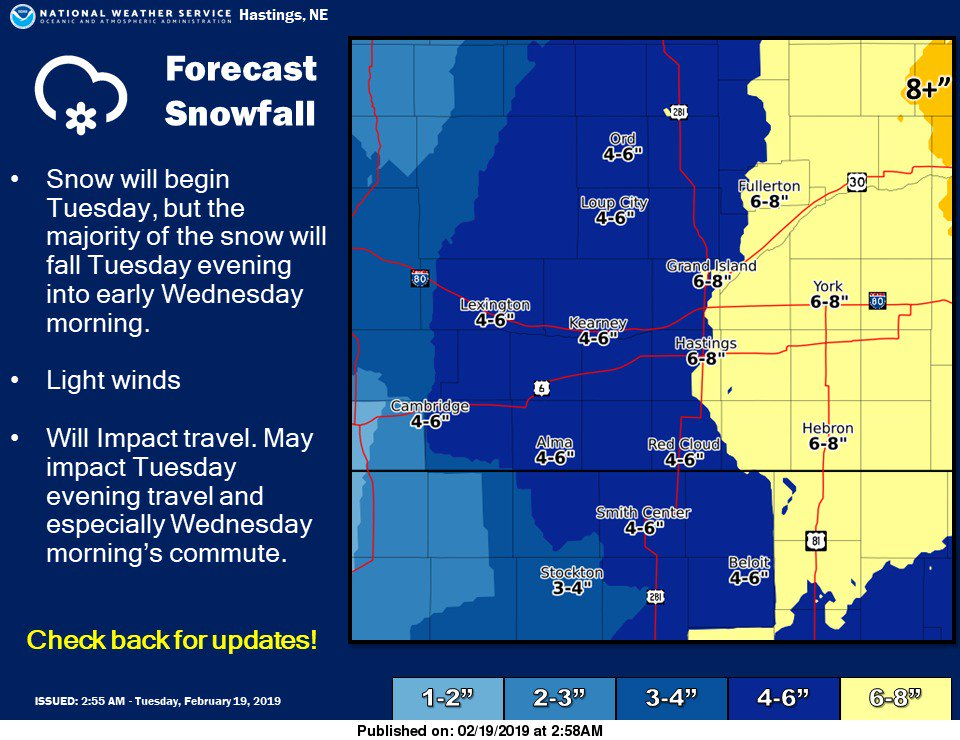 #newx #kswxSnow expected to begin this afternoon and will linger into Wednesday morning. Be sure to check back for updates.