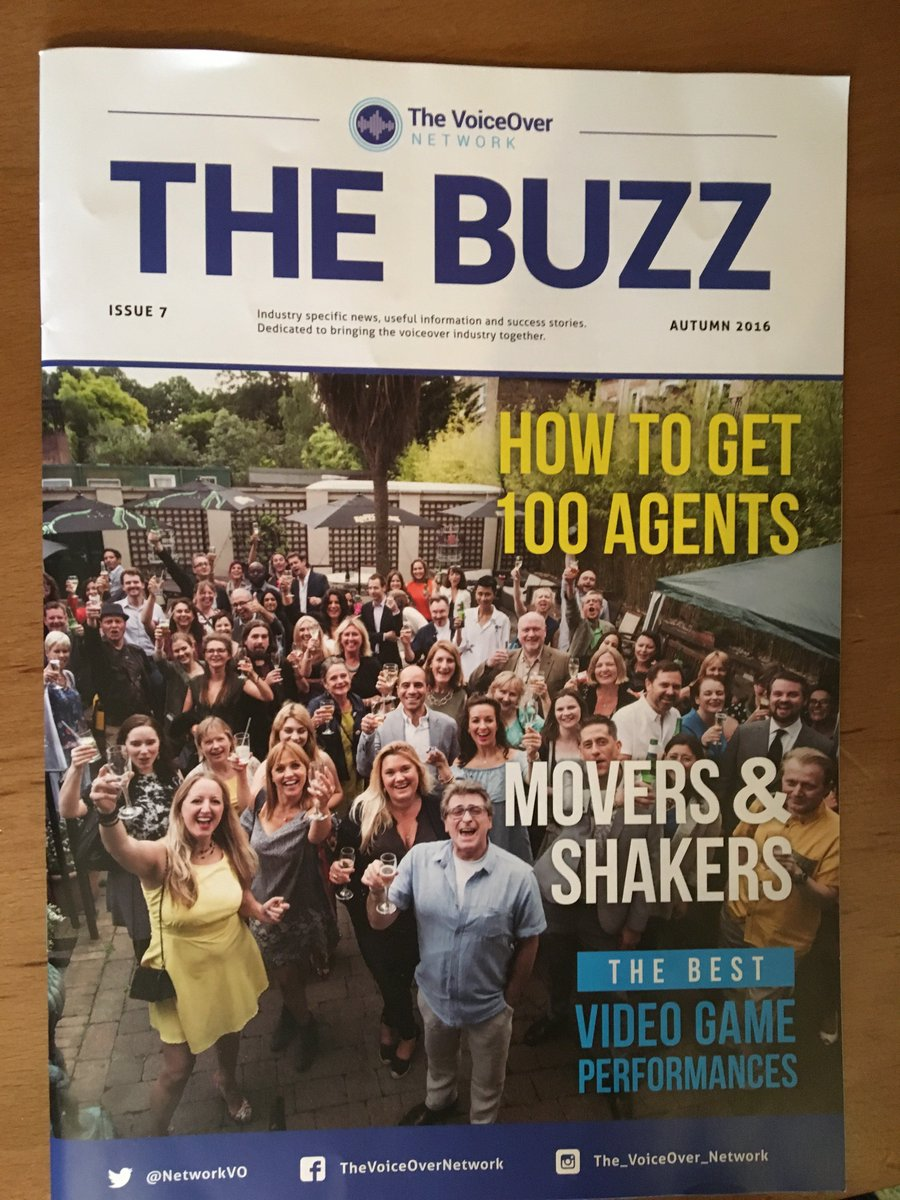 Are you a voiceover artist, agent, audio director or producer? Then you should be reading The Buzz Magazine @NetworkVO as it's the ONLY voiceover industry magazine in the world! It's a worldwide edition so it is available globally. Subscribe https://www.thevoiceovernetwork.co.uk/the-buzz-magazine.html … … #voiceover
