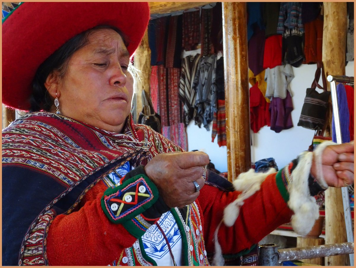 Why not participate in our weaving workshop?  Learn about the intriguing Peruvian culture while learning Spanish in #Cusco. #peruvianculture #Spanishinperu